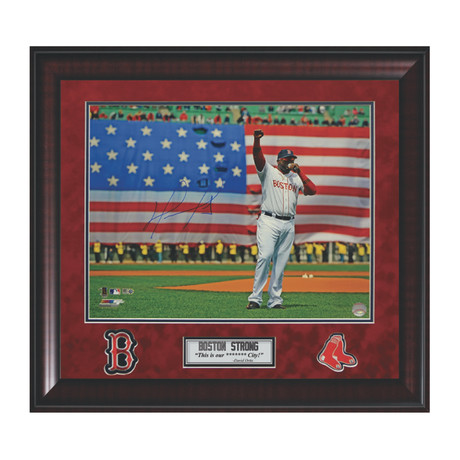 "David Ortiz ""Flag"" // Framed // Signed"