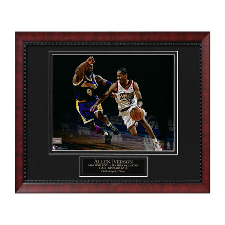 Allen Iverson With Kobe Bryant // Framed // Unsigned