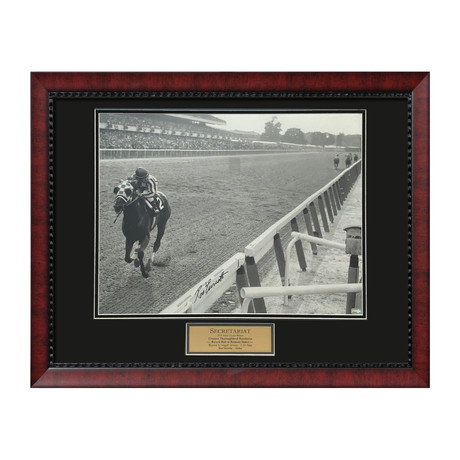Ron Turcotte Secretariat // Framed // Signed