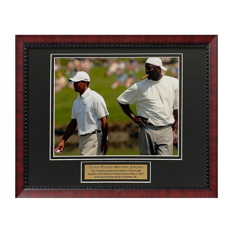 Tiger Woods & Michael Jordan // Framed // Unsigned