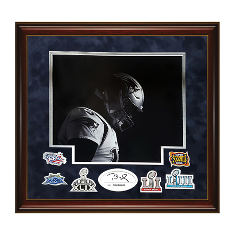 Tom Brady & Super Bowl Patches // Framed // Signed
