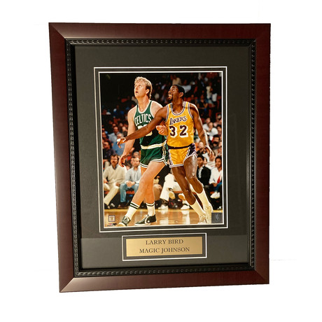 Larry Bird & Magic Johnson // Framed // Unsigned