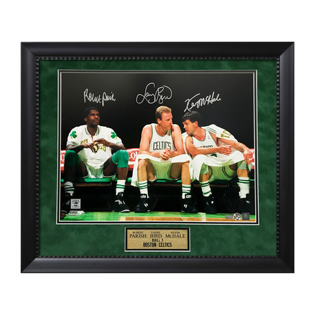 Larry Bird, Robert Parish, & Kevin McHale // Framed // Signed