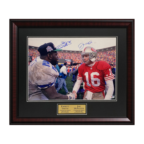 Joe Montana & Emmitt Smith // Framed // Signed