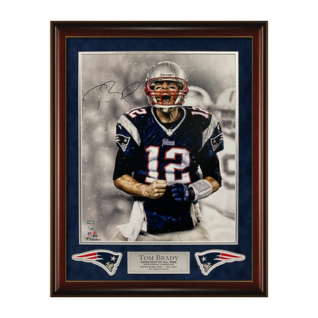 "Tom Brady ""Scream"" // Framed // Signed"