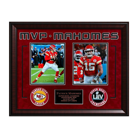 Patrick Mahomes Super Bowl LIV // Framed // Unsigned