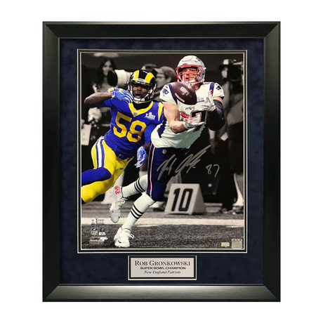 "Rob Gronkowski ""Last Catch"" // Framed // Signed"