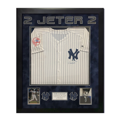 Derek Jeter // New York Yankees Jersey // Framed // Signed