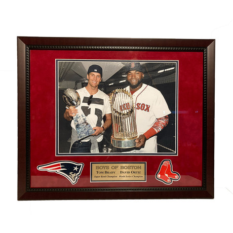 Tom Brady & David Ortiz // Framed // Unsigned