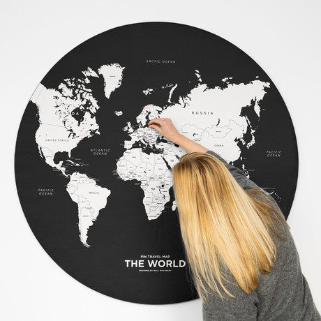 World Map // Black (Small)