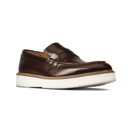 Clarks // Ernest Free // Dark Tan Leather (US: 7)