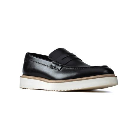 Clarks // Ernest Free // Black Leather (US: 7)