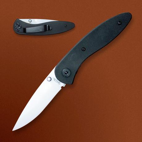 Ceramic Folding Knife // G-10 Handle Pocket Clip Liner Lock