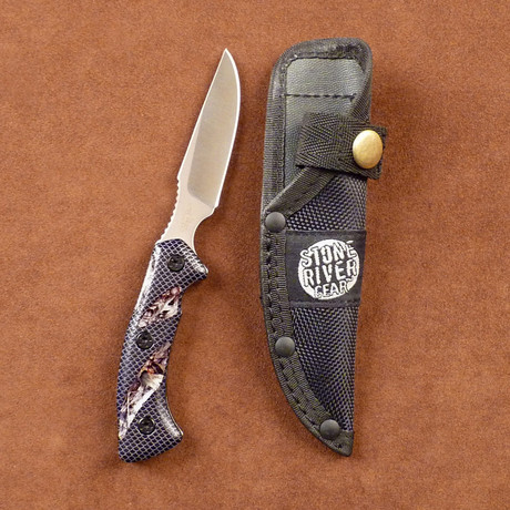 Mossy Oak Camo Handle // Fixed Blade Caping Knife + Sheath