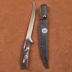 "Mossy Oak Camo Handle // 7"" Super Flex Fillet Knife + Sheath"