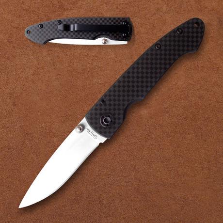 Ceramic Folding Knife // Carbon Fiber Handle Pocket Clip