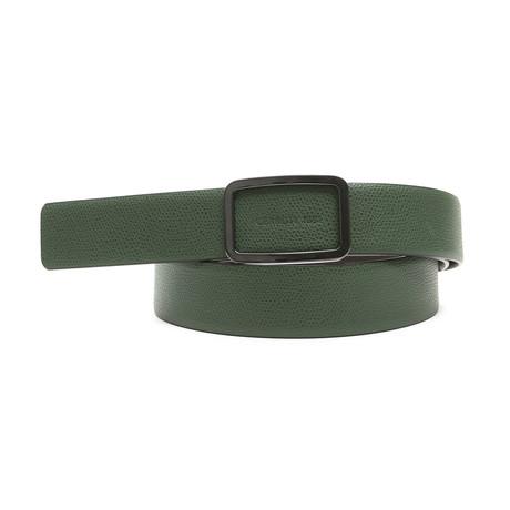 "Chandler Men's Leather Belt // Green-Brown (45"")"