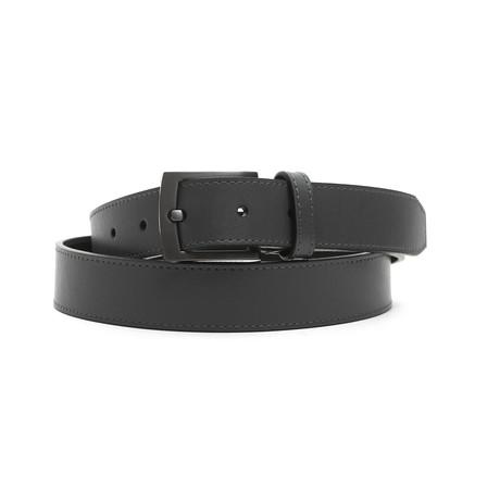 """Milo Men's Leather Belt // Grigio Gray // 45"""""""