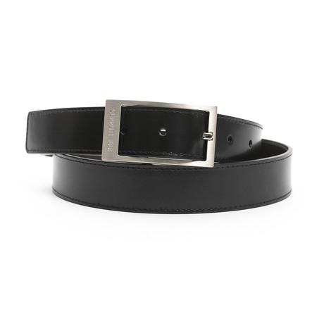 """Landon Men's Leather Belt // Black-Brown // 45"""""""