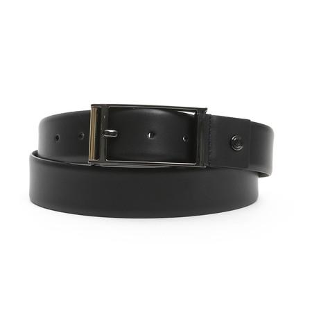 "Mario Men's Leather Belt // Nero Black // 49"""