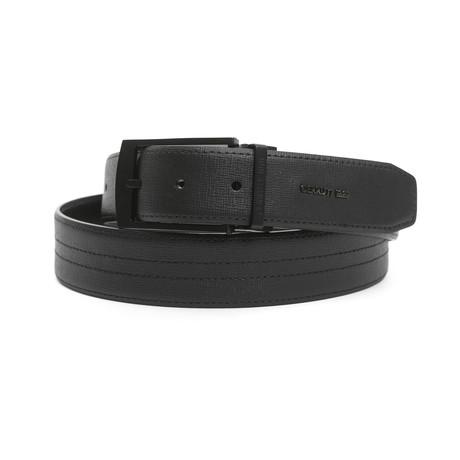 """Andrew Men's Leather Belt // Nero Black // 45"""""""