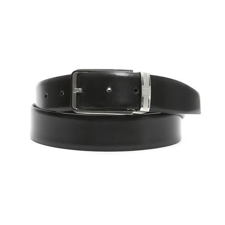 """Lane Men's Leather Belt // Black-Brown // 45"""""""