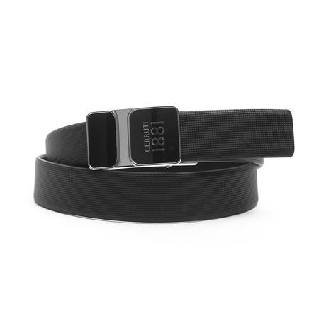 "Nico Men's Leather Belt // Black-Brown // 49"""