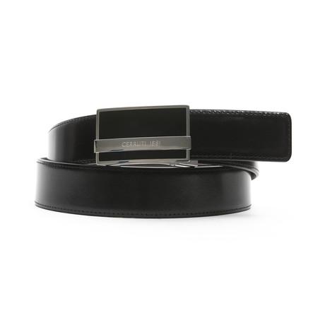 "Tyree Men's Leather Belt // Black-Brown  // 45"""