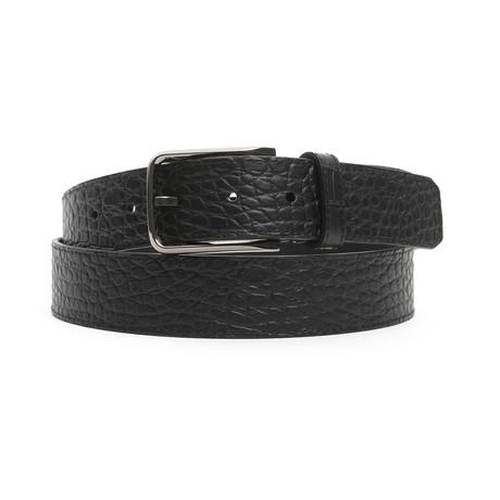 """Ashton Men's Leather Belt // Nero Black // 47"""""""