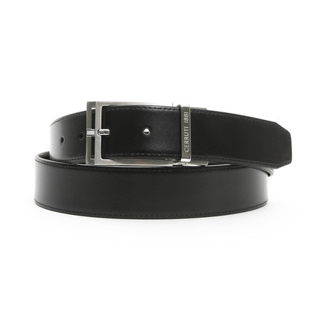 """Conner Men's Leather Belt // Black-Brown // 49"""""""