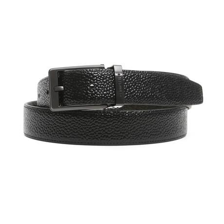 """Oliver Men's Leather Belt // Black-Brown // 49"""""""