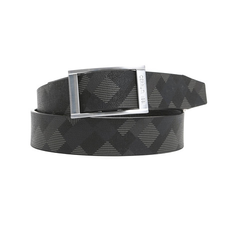 "Ramon Men's Leather Belt // Navy Blue (45"")"