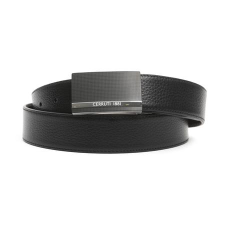 "Reed Men's Leather Belt // Black Bordeaux // 45"""