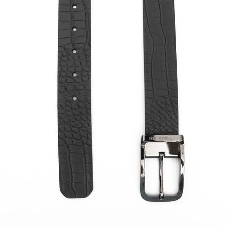 "Dawson Men's Leather Belt // Black (45"")"