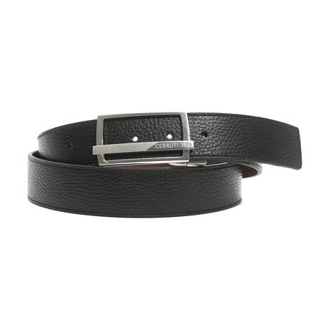 """Ryder Men's Leather Belt // Black Bordeaux  // 47"""""""