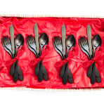 Black Titanium Flatware // 20 Piece Set