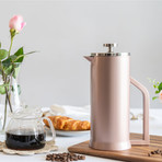 Lafeeca // French Press Coffee Maker // 1000 ml (Polished Stainless Steel)
