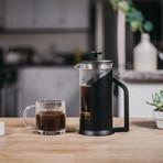 Lafeeca // Glass French Press Maker // 1000 ml (Black)
