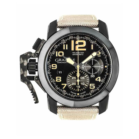 Graham Chronofighter Oversize Black Sahara Chronograph Automatic // 2CCAU.B02A // Store Display