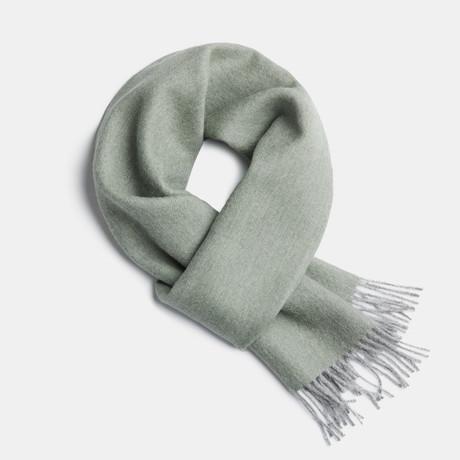 Scarf Exclusive Fishbone // Lichen Green + Silver