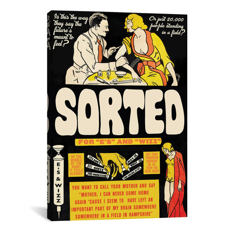 """Sorted For """"E's"""" And """"Wizz"""" // Todd Alcott (26""""W x 40""""H x 1.5""""D)"""