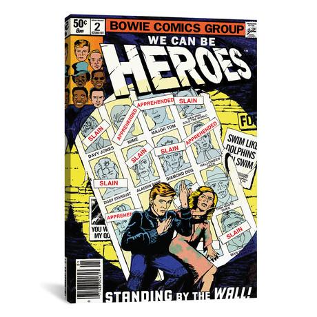 "Heroes // Todd Alcott (26""W x 40""H x 1.5""D)"