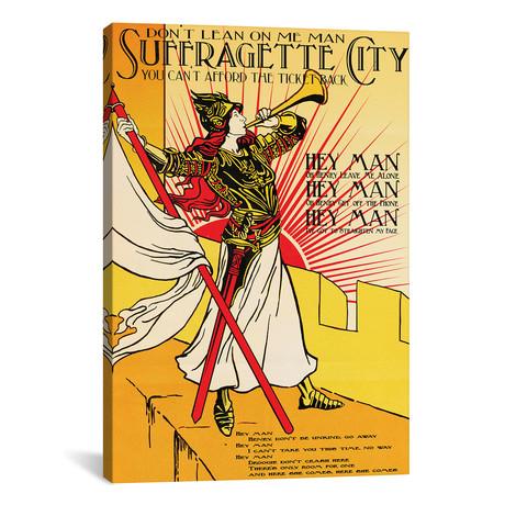 "Suffragette City // Todd Alcott (26""W x 40""H x 1.5""D)"