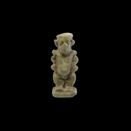 An Egyptian Faience Amulet Of Bes, Late Period, Ca. 664 - 332 BC
