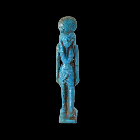 An Egyptian Faience Amulet Of Isis, Third Intermediate Period, 21st Dynasty, Ca 1069 - 945 BC