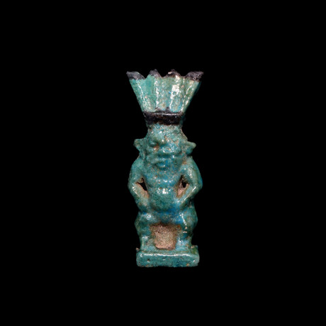 An Egyptian Faience Amulet Of Bes, Third Intermediate Period - Late Period, Ca. 1069 - 332 BC