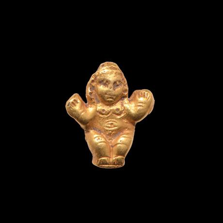 Roman Gold Amulet Of Baubo, Roman Imperial, 1st - 2nd Century CE