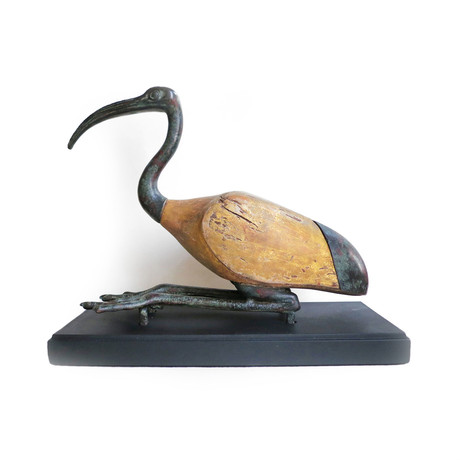 A Reconstructed Egyptian Bronze And Wood Ibis, Late Period, Ca. 664 - 332 BCE