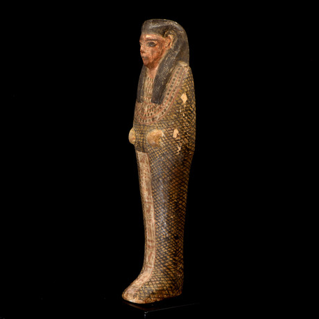 An Egyptian Wood Figure Of Imsety, Ptolemaic Period, Ca. 332 - 30 BCE