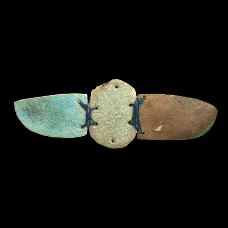 An Egyptian Faience Winged Scarab, Late Period Ca 664-332 BC